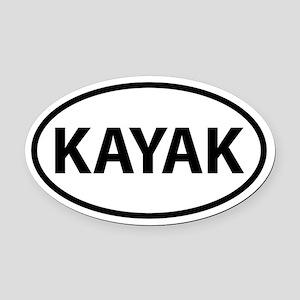 KAYAK Oval Car Magnet