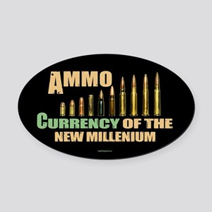 Ammo: Currency Millenium Oval Car Magnet