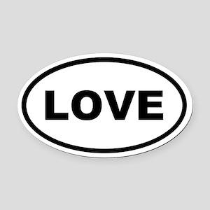LOVE Oval Car Magnet