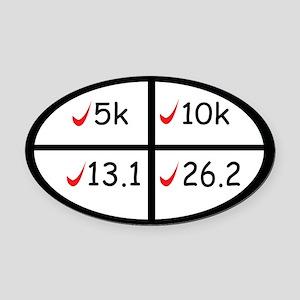 Marathon goals Oval Car Magnet