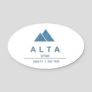 Alta Ski Resort Utah Oval Car Magnet