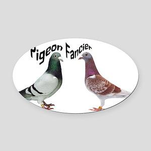 Pigeon Fancier Oval Car Magnet
