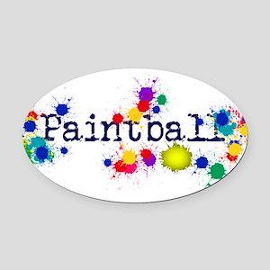 Paintball Paint Splatter Oval Car Magnet