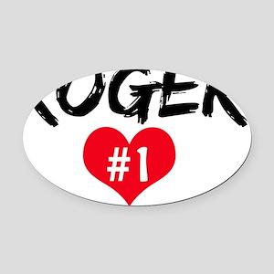 ROGER number one Oval Car Magnet