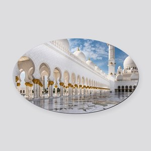 Sheikh Zayed Mosque Oval Car Magnet