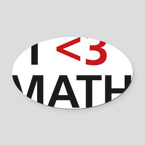 math-01 Oval Car Magnet