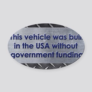 Built in the USA Oval Car Magnet