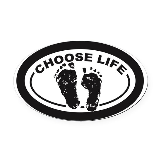 Choose Life Oval