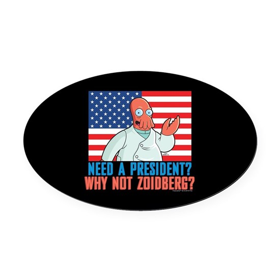Futurama Why Not Zoidberg Oval Car Magnet by Futurama ...