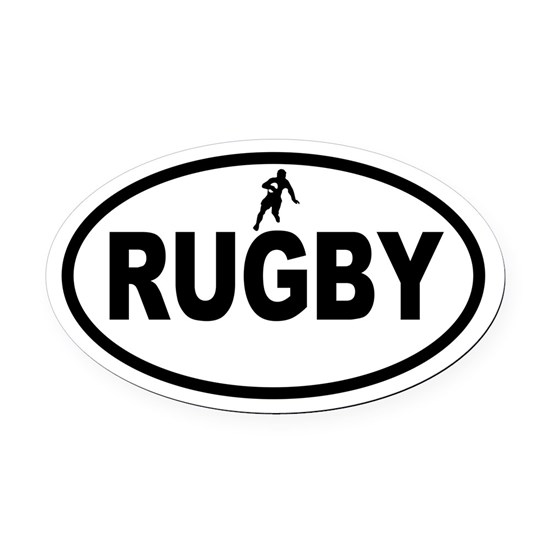 Rugby Oval Car Magnet By A-to-Z-Originals
