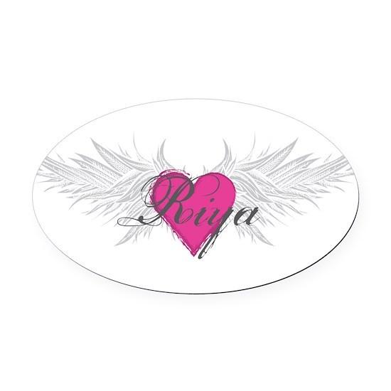 Riya-angel-wings Oval Car Magnet