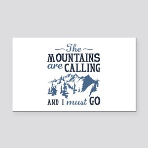 The Mountains Are Calling Rectangle Car Magnet