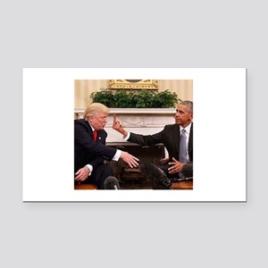 barack obama giving donald tr Rectangle Car Magnet
