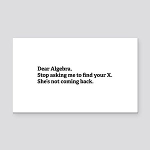 dearAlgebra1A Rectangle Car Magnet