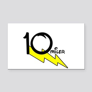 10 miles Rectangle Car Magnet