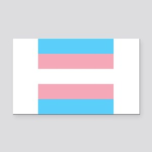 Transgender Pride Flag Rectangle Car Magnet