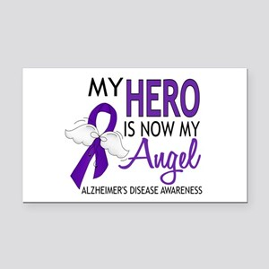 Alzheimers Hero Now My Angel Rectangle Car Magnet