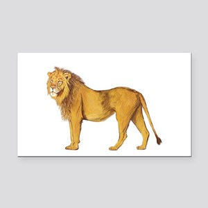 Lion Rectangle Car Magnet