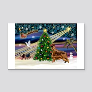 card-XmasMagic-IrishSetter Rectangle Car Magnet