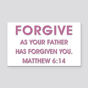 FORGIVE Rectangle Car Magnet