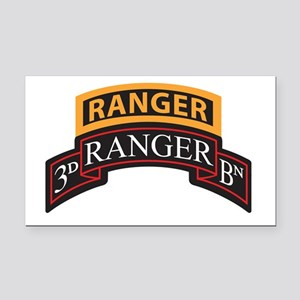 3D Ranger BN Scroll with Rang Rectangle Car Magnet