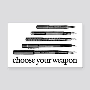 Choose Your Weapon Rectangle Car Magnet