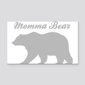 Momma Bear Rectangle Car Magnet