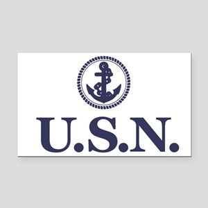 USN Rectangle Car Magnet