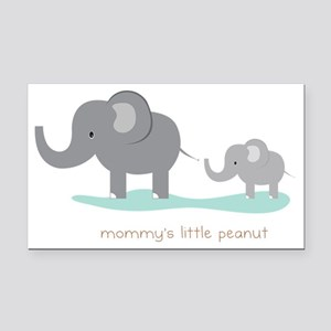 Mommy's Little Peanut Rectangle Car Magnet