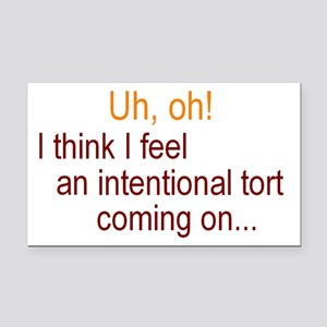 Intentional Tort Rectangle Car Magnet
