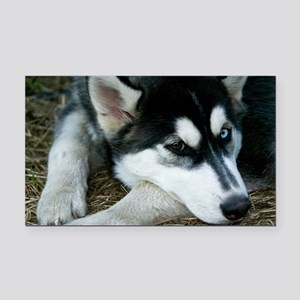 Siberian Husky Dog Rectangle Car Magnet