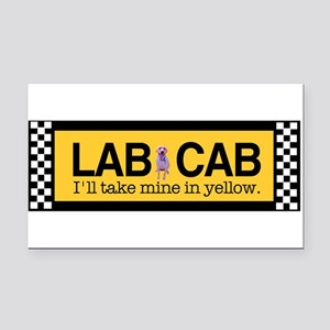 labcab Rectangle Car Magnet
