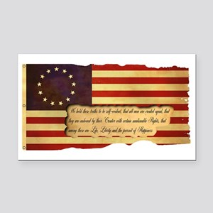 old_glory2 Rectangle Car Magnet