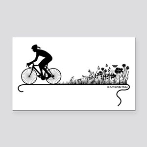 Nature Ride Rectangle Car Magnet