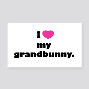 ILovemyGrandbunny copy Rectangle Car Magnet