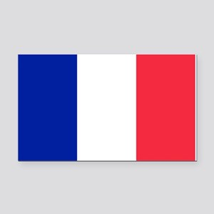 French Flag Rectangle Car Magnet