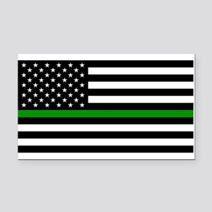 U.S. Flag: The Thin Green Lin Rectangle Car Magnet