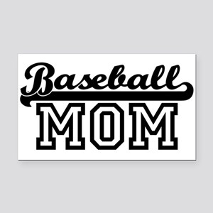 Baseball Mom Rectangle Car Magnet