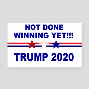 Not done winning yet! Rectangle Car Magnet