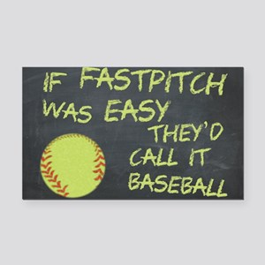Chalkboard If Fastpitch Was Easy Rectangle Car Mag