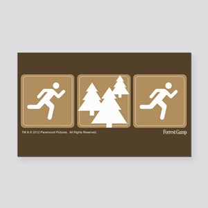 Run Forrest Run Rectangle Car Magnet
