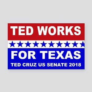 Ted works for Texas Rectangle Car Magnet