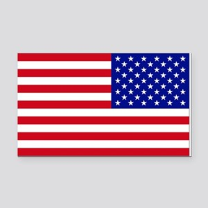 Reversed USA Flag Rectangle Car Magnet