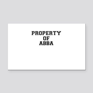 Property of ABBA Rectangle Car Magnet