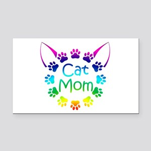 """Cat Mom"" Rectangle Car Magnet"