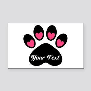 Personalizable Paw Print Rectangle Car Magnet