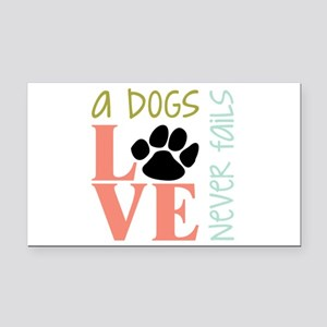 A Dogs Love Rectangle Car Magnet