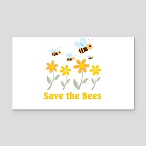 save the bees Rectangle Car Magnet