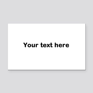 Template Your Text Here Rectangle Car Magnet