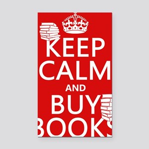 Keep Calm and Buy Books Rectangle Car Magnet